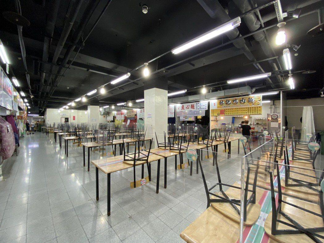 新竹市政府規定市場不准飲食,竹蓮市場內用區已經不對外開放。圖/新竹市政府提供