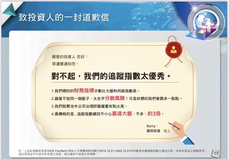 富邦台灣半導體ETF宣傳內容。資料來源:富邦投信、網路