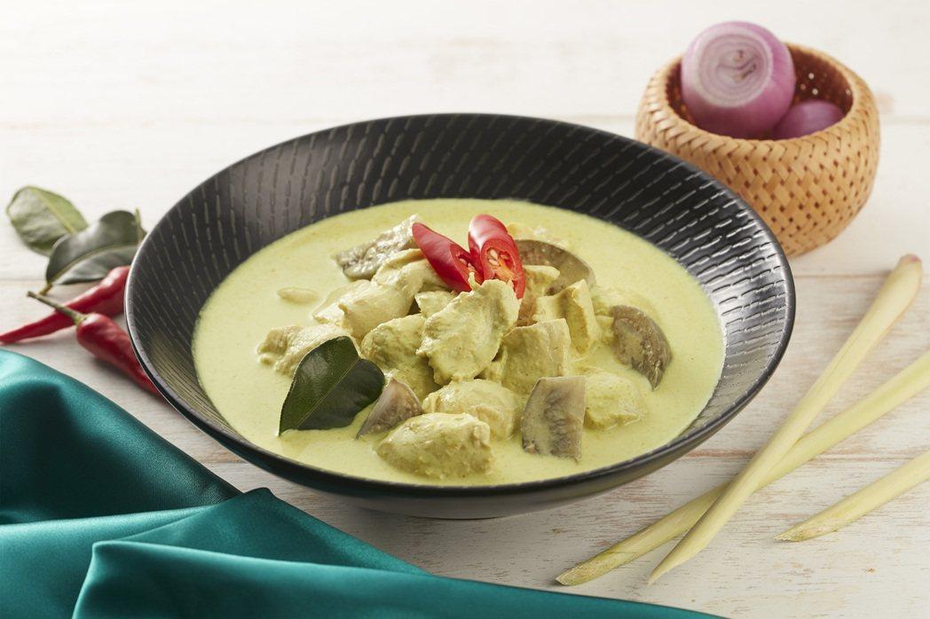 台北喜來登Sukhothai的「綠咖哩雞肉」也可在家輕鬆吃。圖/台北喜來登提供