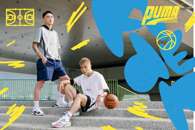 PUMA Hoops籃球服飾系列推出多樣穿搭新選擇,並藉由富邦勇士教練魏維、「全...