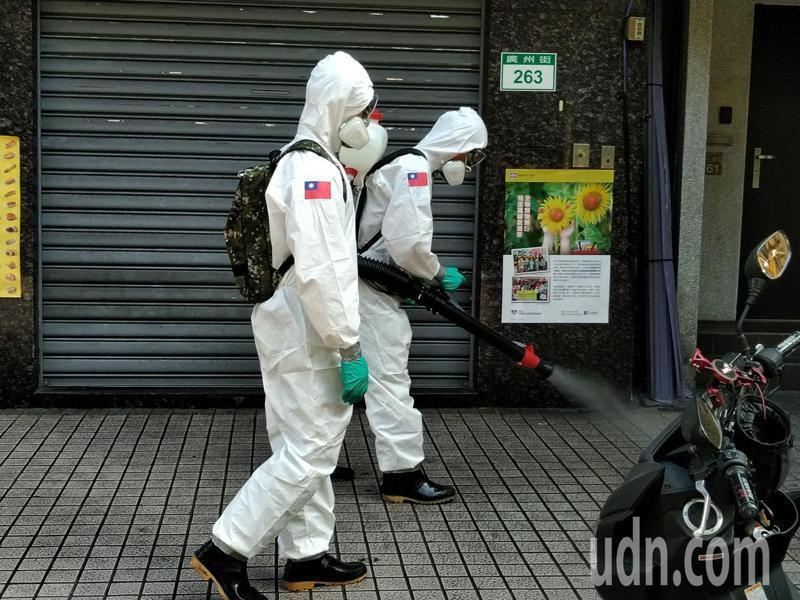 台北畜產公司今也有人員快篩陽性,台北畜產公司今天下午兩點大消毒。記者林麗玉/攝影