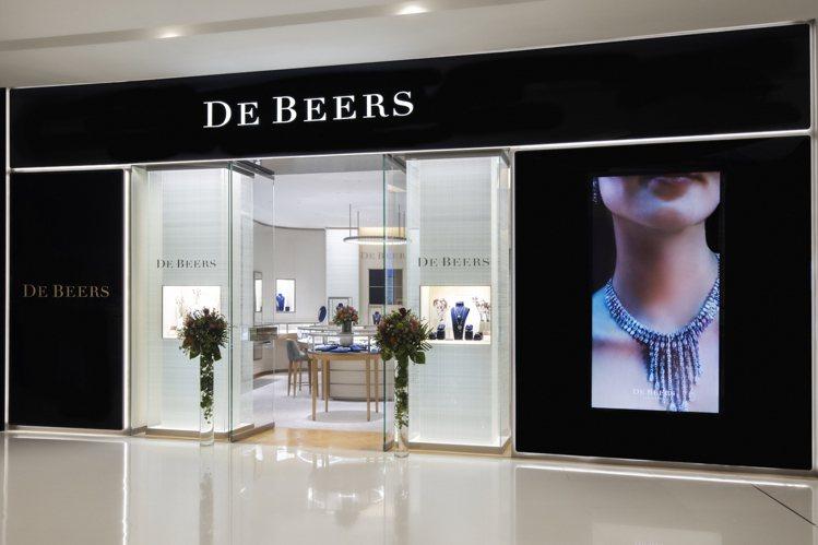 De Beers Jewellers 成都IFS專賣店。圖/DE BEERS提供