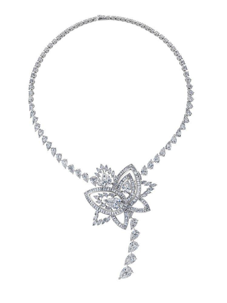 Lotus by De Beers系列Blooming Lotus高級珠寶鑽石項...