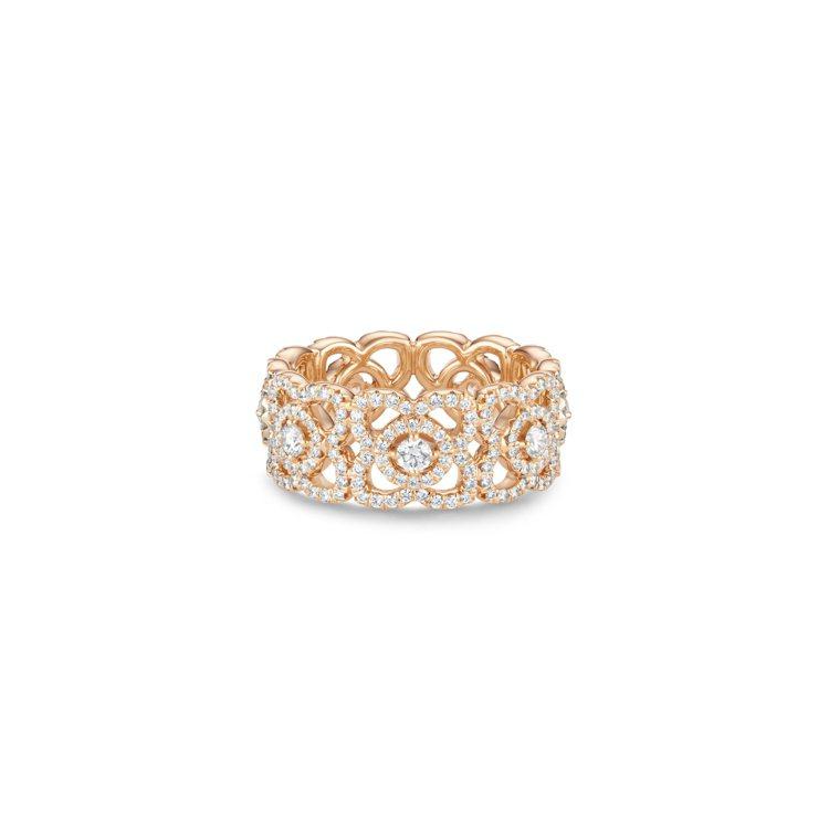 Enchanted Lotus 18K玫瑰金鑽石戒指,21萬9,000元。圖/D...