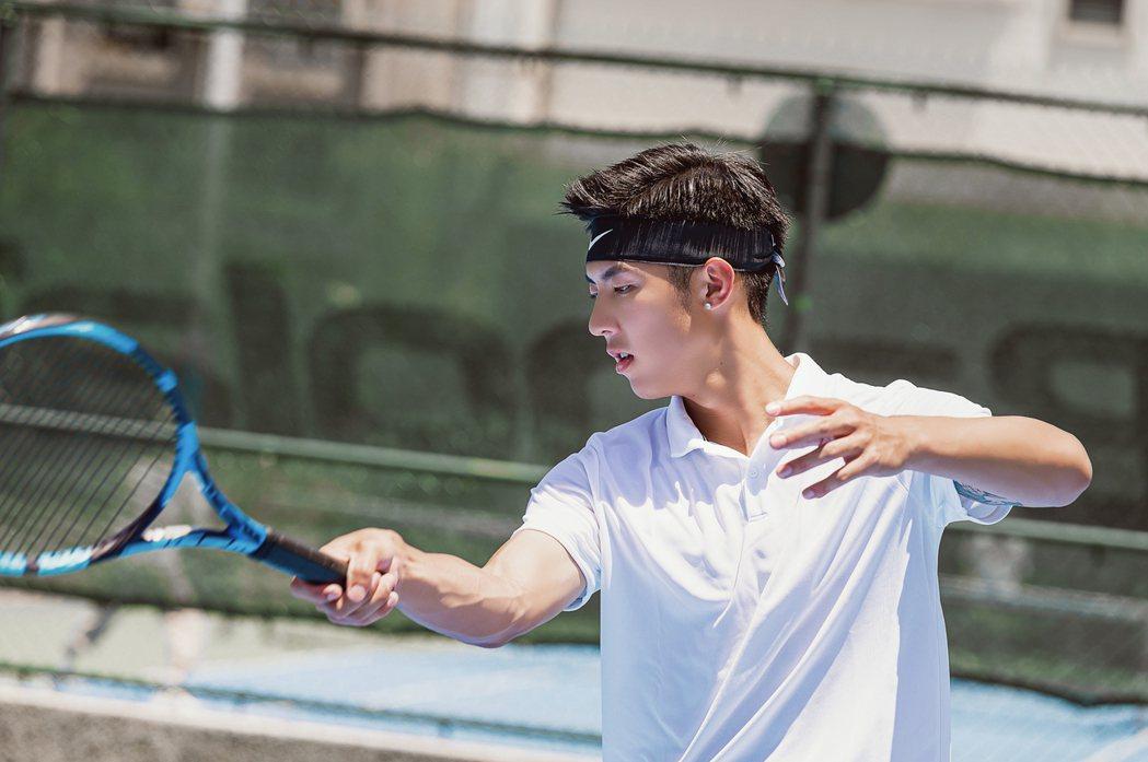劉丞曾和台劇「網球王子」真人版擦肩。圖/艾迪昇傳播提供