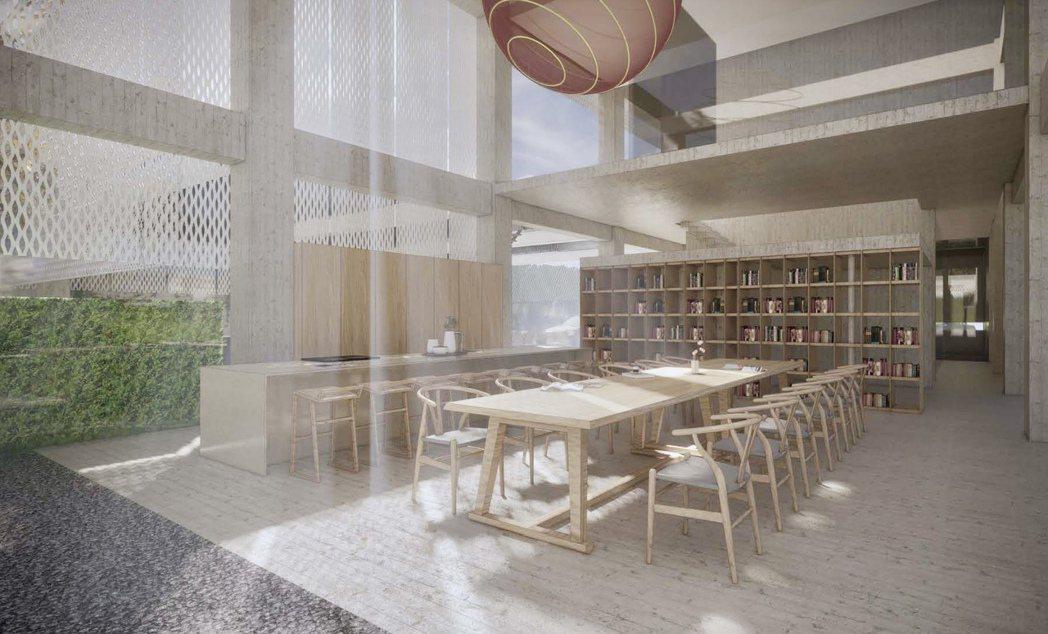 磐興娘家新館巧妙留下的大片落地窗,提供城市絕佳的景觀平台。磐興建設提供