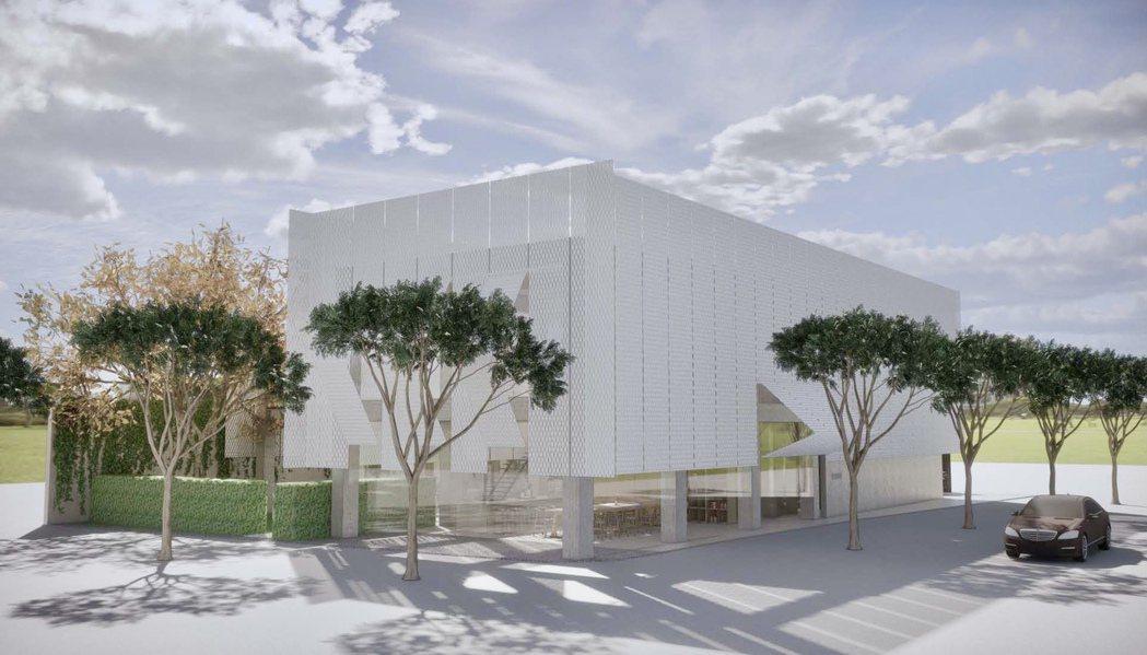 磐興娘家新館以「致贈一個精緻的禮物盒給這座都市」為設計概念。磐興建設提供