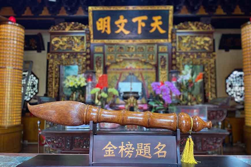 位於萬和宮後方的台中市文昌公廟,建於清朝嘉慶年間 圖/泰國劉德華 攝影