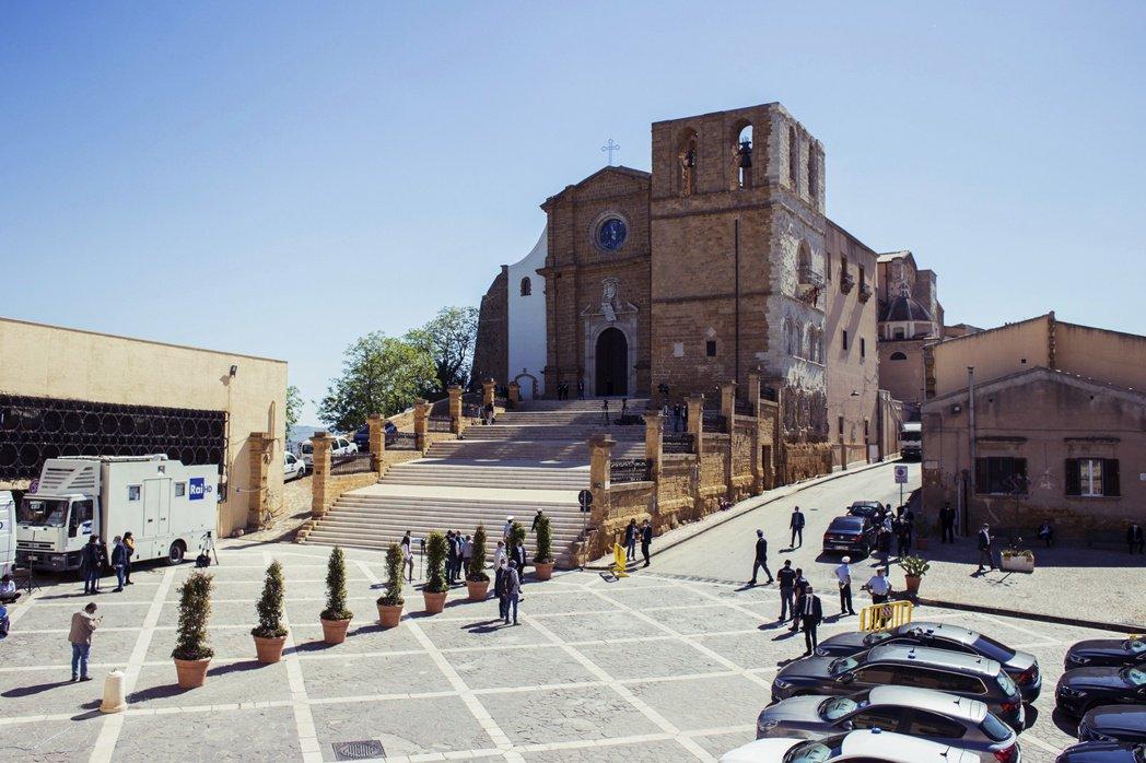 圖/美聯社:2021年5月9日舉行宣福禮的阿格里真托教堂。