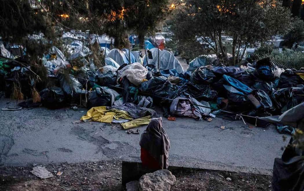 薩摩斯難民營一隅。(資料來源:The Nation)