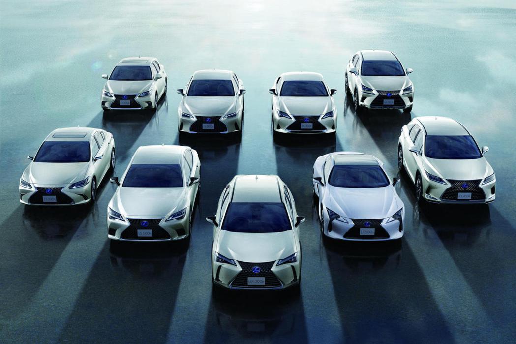 LEXUS電氣化車型達200萬銷售。 圖/LEXUS提供