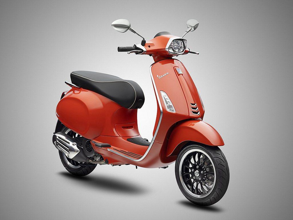 偉士牌Sprint 125 i-get ABS今年同步推出活力新色「Orange...