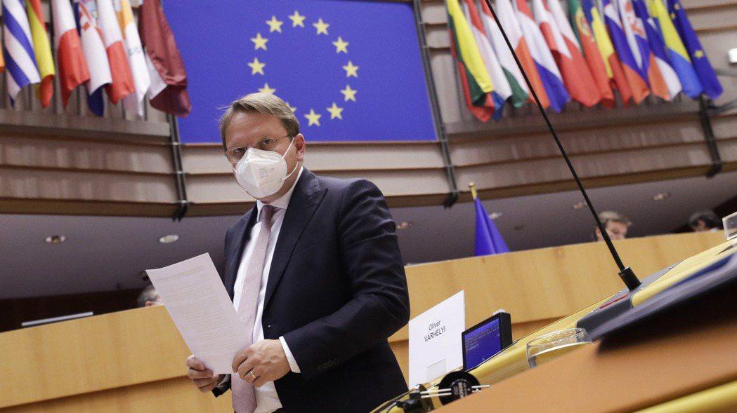 歐洲議會議事會場。歐新社