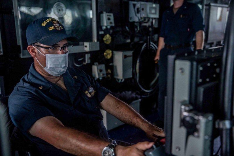 美軍太平洋司令部(U.S.Pacific.Fleet)在臉書粉專貼文,披露魏柏號通過台灣海峽時聲納席位運作情況。圖/美軍太平洋司令部臉書粉團
