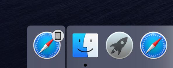 在Dock按下該App的「接力」圖像,即可在Mac上繼續先前的操作。圖/蘋果提供