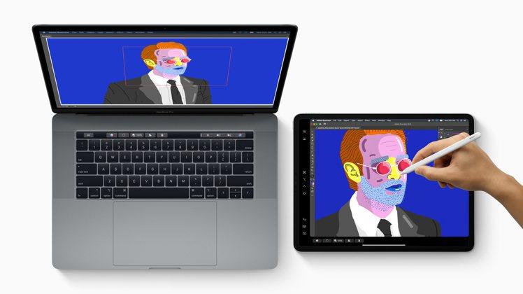 透過「並行」功能讓iPad變成你的第二個顯示器。圖/蘋果提供