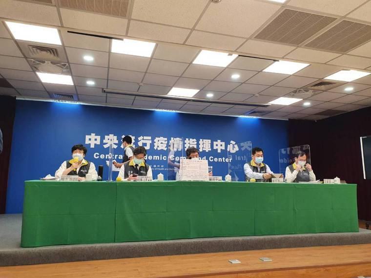 中央流行疫情指揮中心5月19日14時記者會出席名單第一排由左到右中央流行疫情指揮...