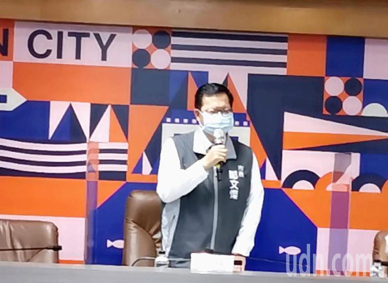 中央疫情指揮中心宣布全國三級管制,桃園市長鄭文燦宣布不戴口罩一律開罰。記者曾增勳...