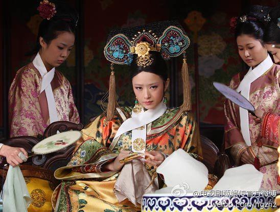 蔣欣因「後宮甄嬛傳」的華妃一角爆紅。圖/摘自微博