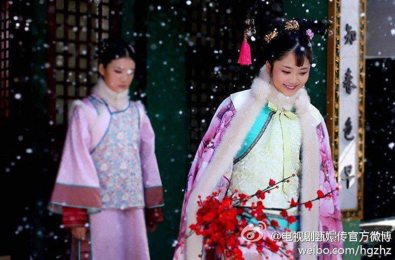 譚松韻在「後宮甄嬛傳」中飾演淳貴人。圖/摘自微博