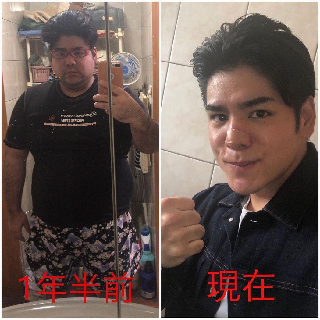 137公斤網紅瘦身成功。 圖/擷自Ruibosu IG