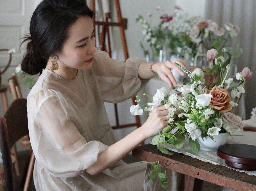 花藝師Chih Hsuan。 圖/島上花事提供