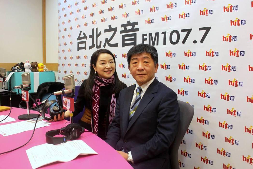 周玉蔻(左)在節目上訪問過陳時中。 圖/摘自臉書