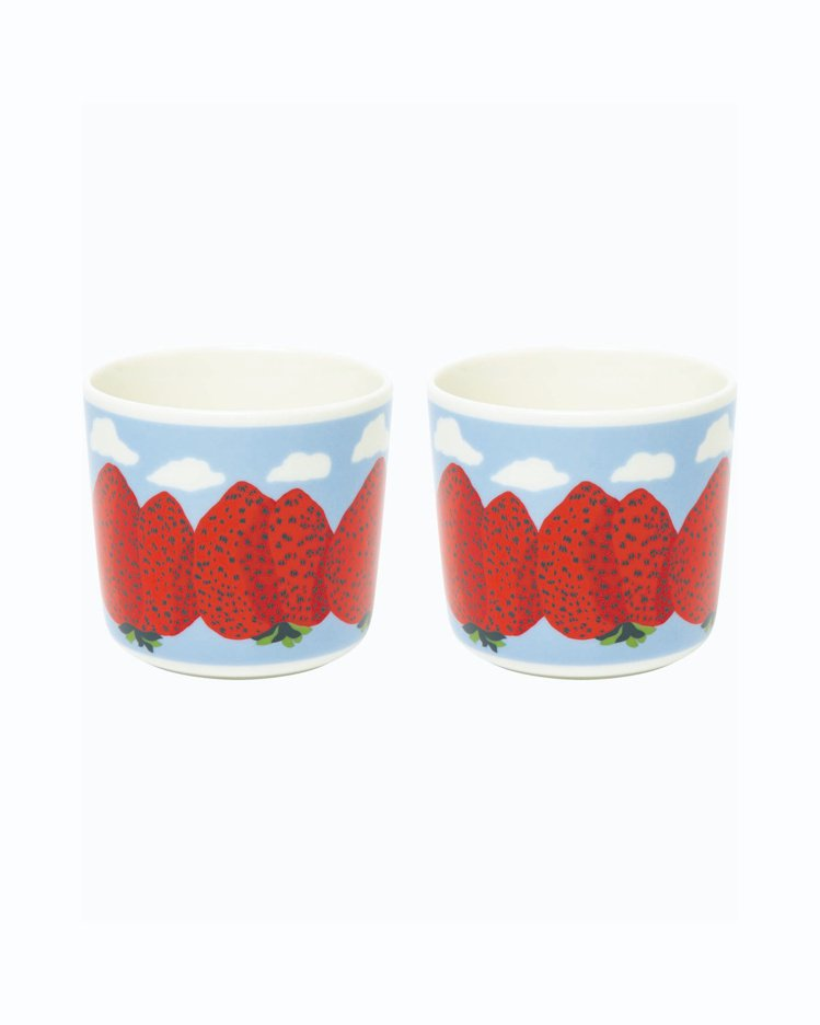 Mansikkavuoret印花咖啡對杯,1,650元。圖/Marimekko提...