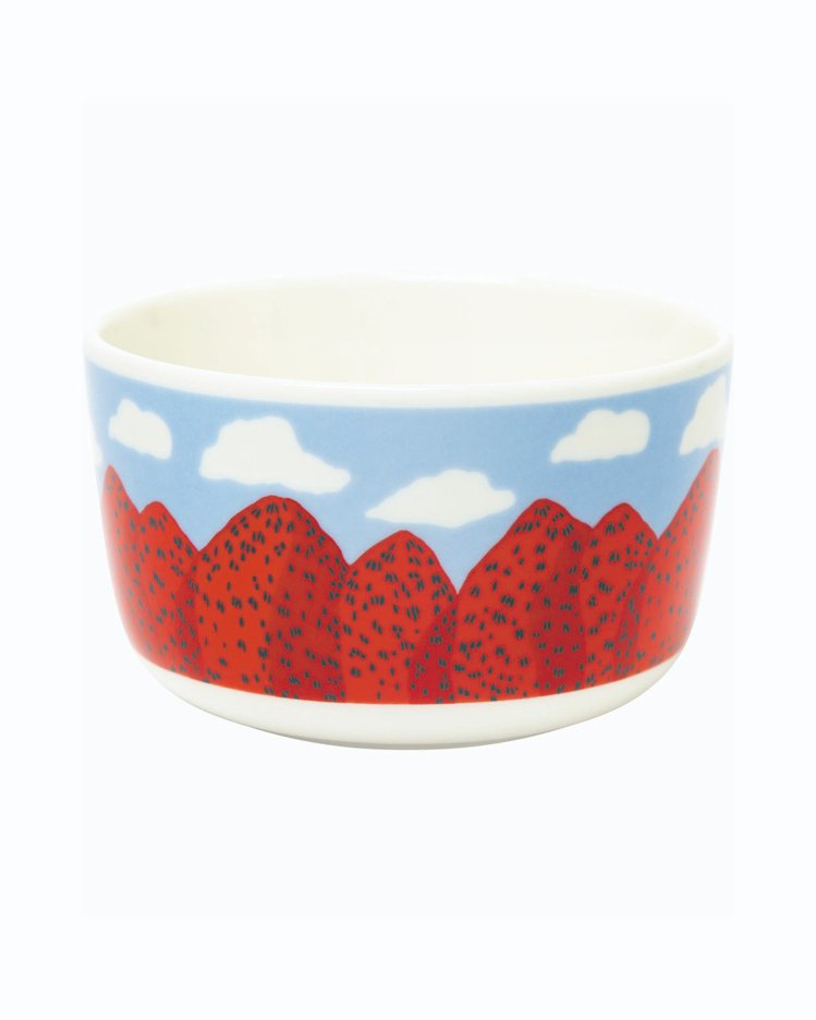 Mansikkavuoret印花沙拉碗,890元。圖/Marimekko提供