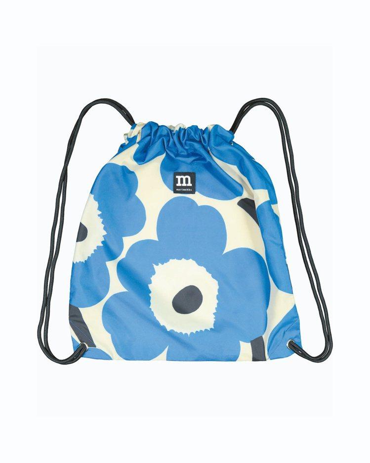 Unikko印花環保摺疊後背包,1,180元。圖/Marimekko提供