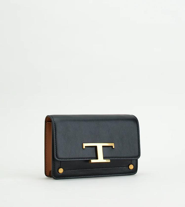 TOD'S T Timeless黑色腰包,39,900元。圖/迪生提供