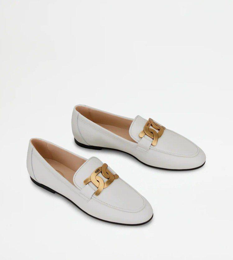 TOD'S KATE白色樂福鞋(女),26,900元。圖/迪生提供