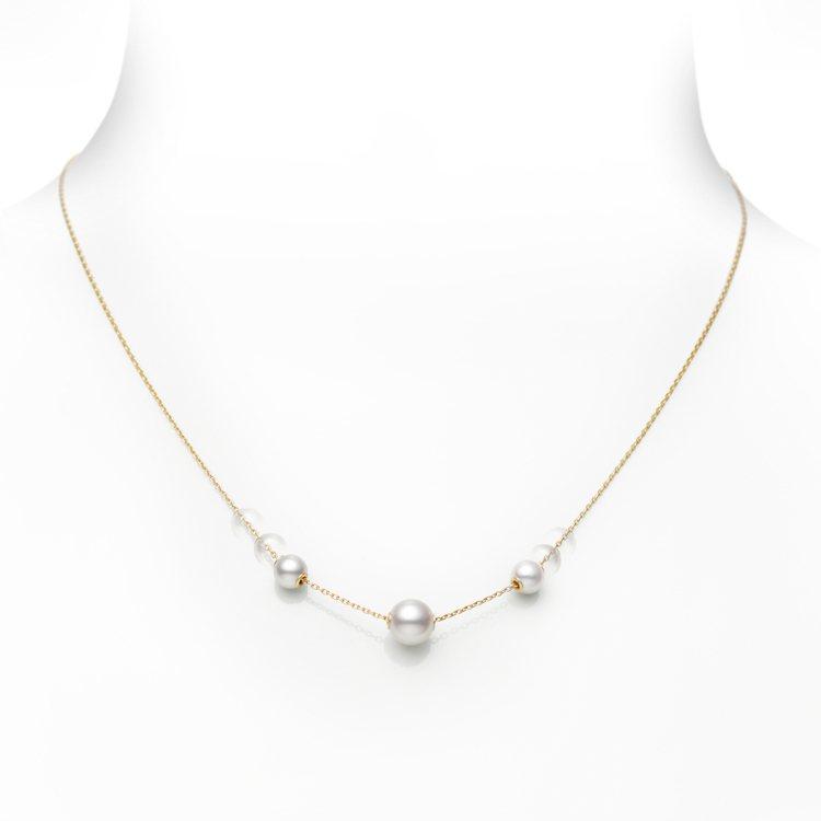 MIKIMOTO Jewels in Motion系列珍珠墜鍊可依造型需求滑動珍...
