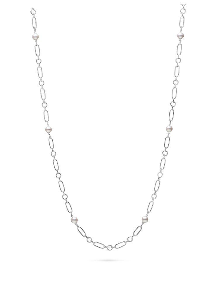 MIKIMOTO M Code系列珍珠長項鍊白K金款,62公分,14萬9,000...