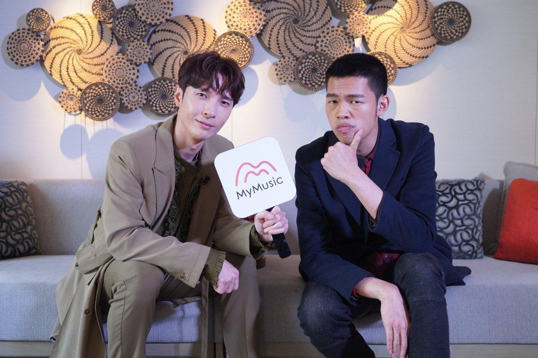 陳勢安(左)和陳大天暢聊新專輯的製作歷程。圖/MyMusic提供