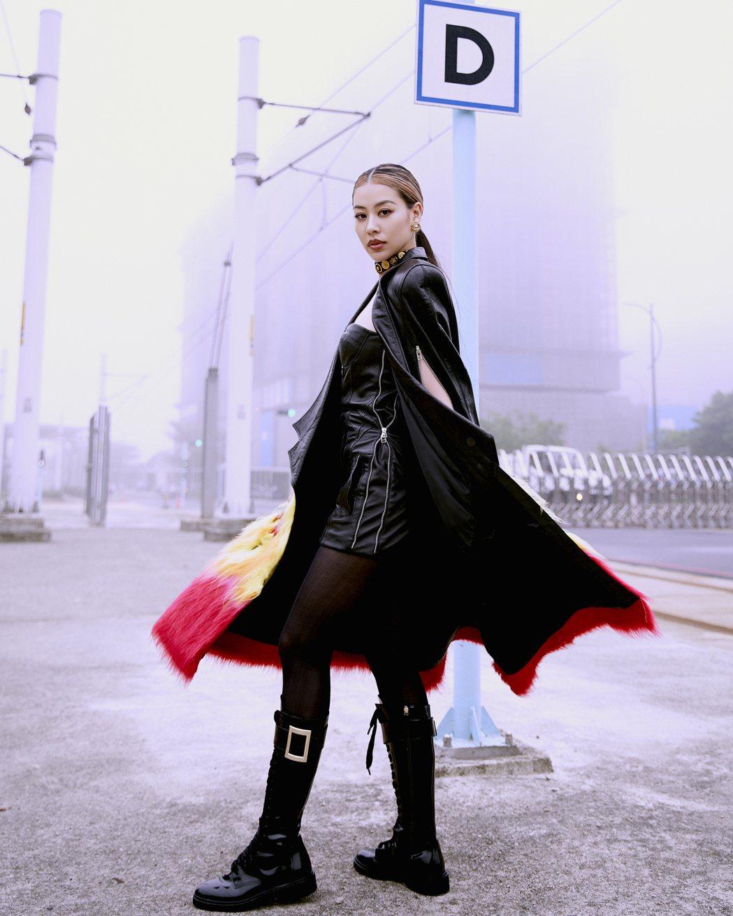 蔡詩芸在新歌「Wifey」MV展現女力的爆發與精神象徵。圖/瑩音樂提供
