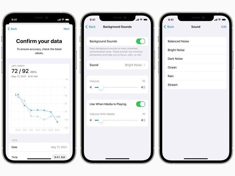 蘋果將在耳機調節功能中支援聽力圖,使用者可載入最新聽力測試結果,讓裝置因應使用者...