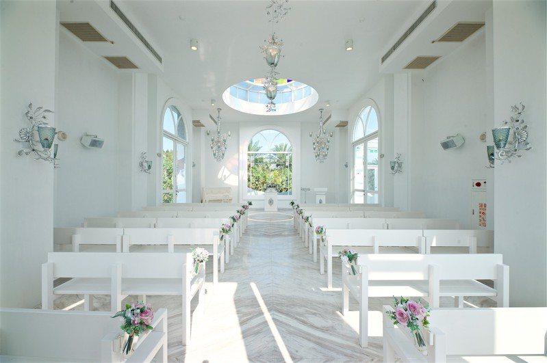永恆水教堂是結婚劇情的熱門取景地。圖/香格里拉冬山河渡假飯店提供