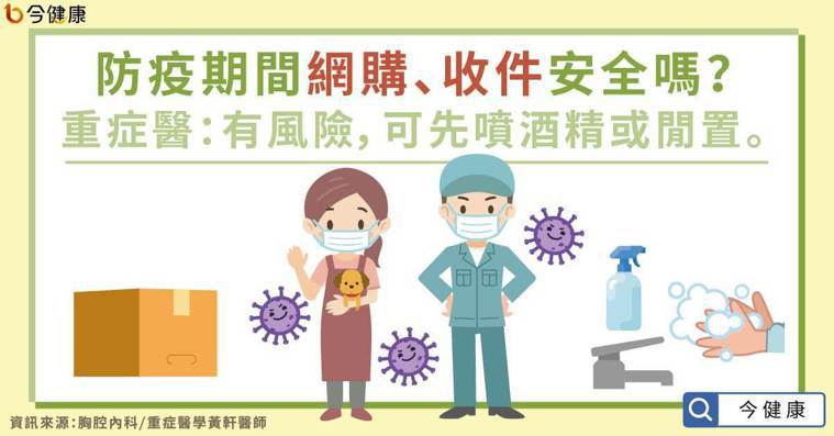 防疫期間網購、收件安全嗎?重症醫:有風險,可先噴酒精或閒置。