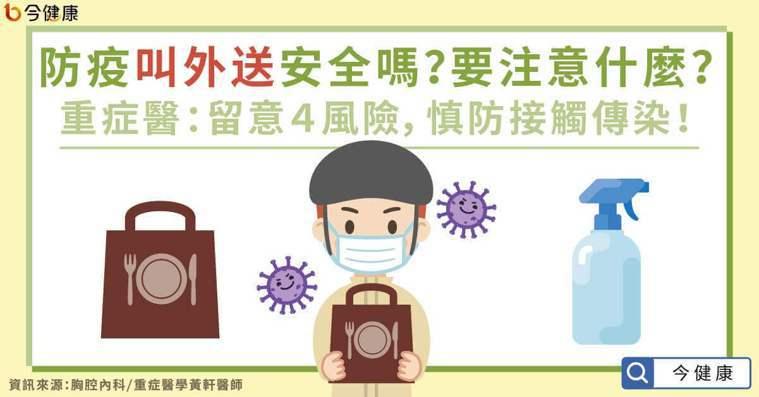 防疫叫外送安全嗎?要注意什麼?重症醫:留意4風險,慎防接觸傳染!