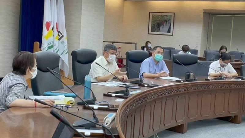 台北市長柯文哲主持北市防疫會議。圖/北市府提供