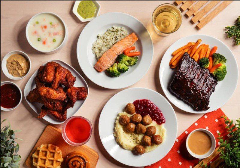 IKEA推出外帶指定主餐,享75折。圖/IKEA提供