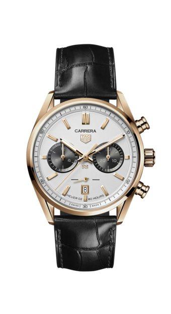 泰格豪雅Carrera傑克豪雅88歲生日紀念計時碼表,18K玫瑰金表殼,限量18...