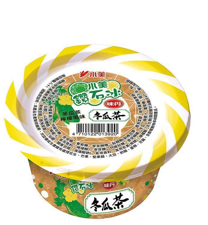 7-ELEVEN獨家販售「小美鑽石冰-味丹冬瓜茶」,售價35元。圖/7-ELEV...
