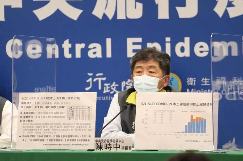 中央疫情中心指揮官陳時中。圖/中央疫情指揮中心提供