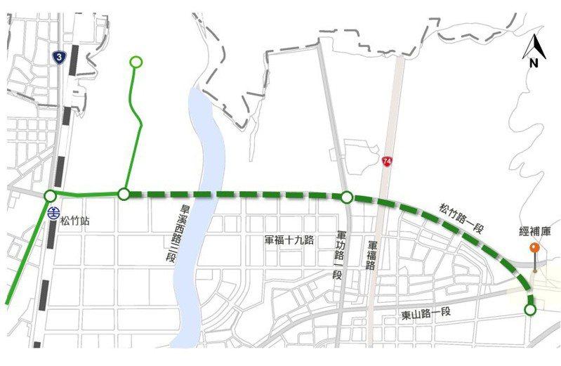 中捷綠線延伸大坑規劃。圖/台中市交通局提供