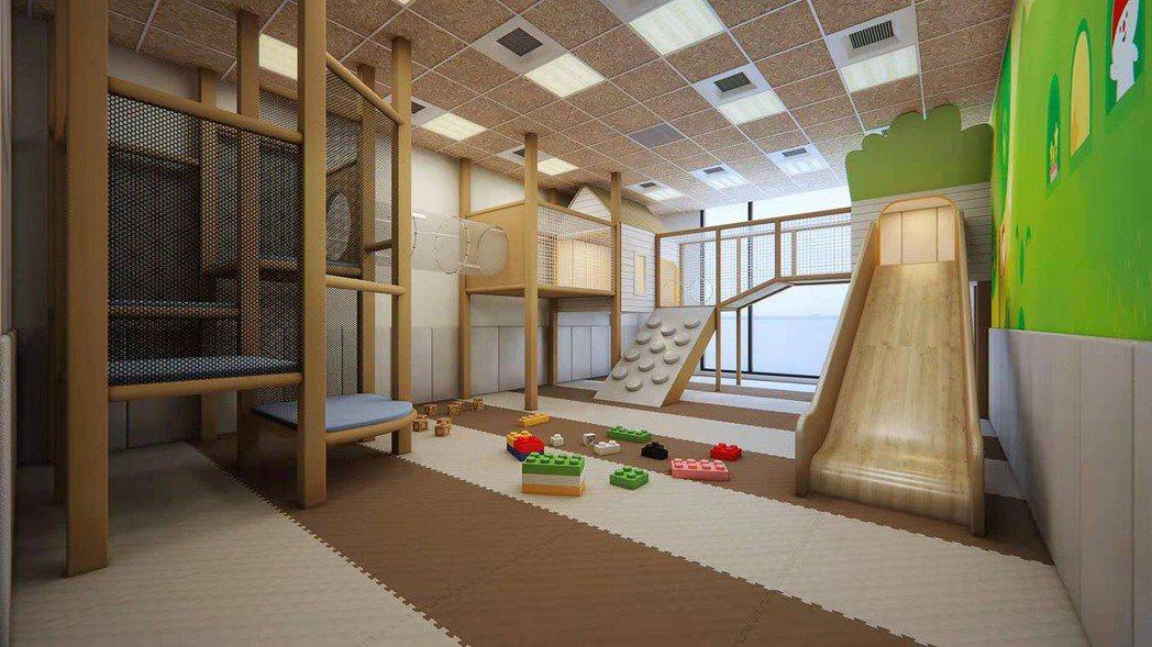 五星級台北美福大飯店邀請騎士堡以「樹屋森林」為主題,設計的「叢林小鎮」兒童遊戲室...