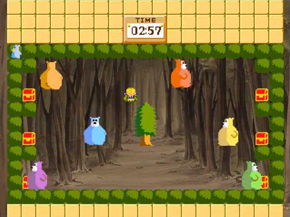 遊戲中也有小遊戲需要讓玩家挑戰,試著將被奪走的道具從熊熊手中搶回來吧!