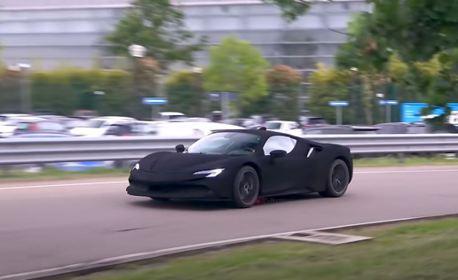 這輛Ferrari SF90怎麼看起來黑黑暗暗 原來大有玄機!