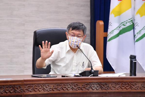 台北市長柯文哲今上午主持市府內部防疫會議中指示,北市府的快篩站,要走出萬華熱區周邊,下令醫院加開快篩點。圖/北市府媒體事務組提供